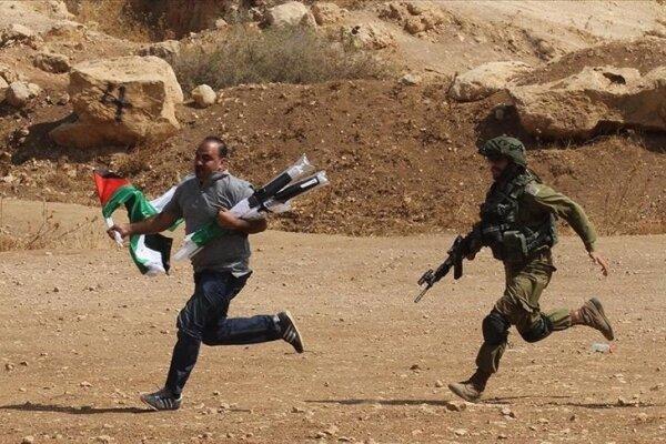 یورش نظامیان صهیونیست به تظاهرات در کرانه باختری