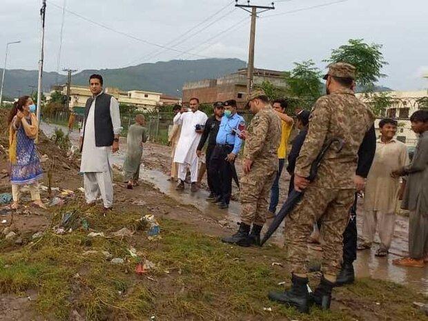 اسلام آباد میں بادل پھٹنے کے باعث مختلف علاقوں میں سیلاب آگیا