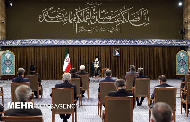 دیدار رئیسجمهور و اعضاء هیئت دولت با رهبر معظم انقلاب