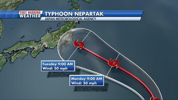 Typhoon Nepartak over Sea of Japan no threat for Olympics