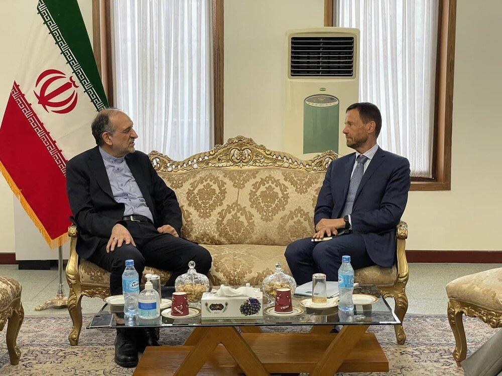 نماینده ویژه اروپا در امور افغانستان با سفیر ایران دیدار کرد