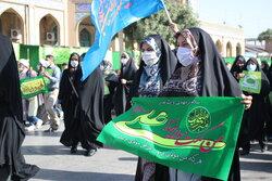 راهپیمایی خانوادگی جشن عید غدیر در کرمانشاه برگزار شد