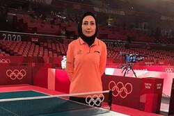 قضاوت داور بانوی ایران در مرحله نیمه نهایی تنیس روی میز المپیک