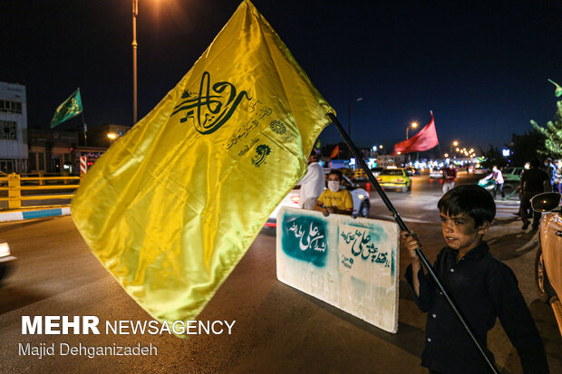 پشت نویسی خودروها در شب عید غدیر