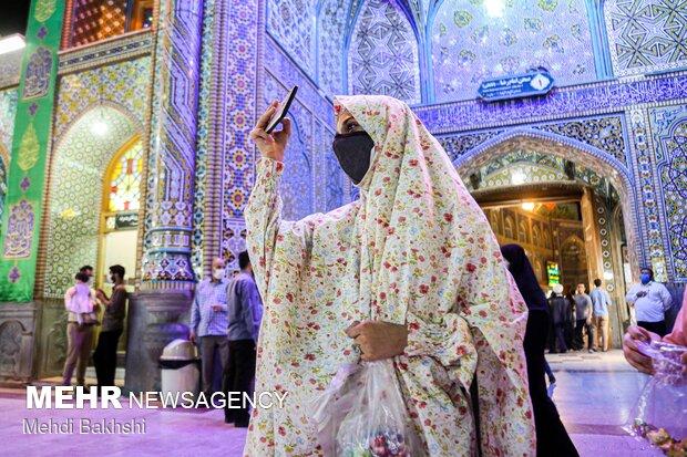 حال و هوای حرم حضرت معصومه(س) در شب عید غدیر خم