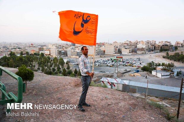 غدیر بهانه عاشقی و دلدادگی/پرچمهای سبز در استان سمنان افراشته شد
