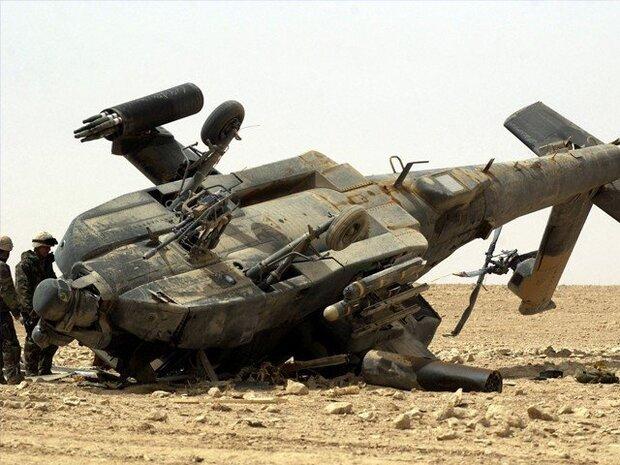 عراقی فوج کا ہیلی کاپٹر گر کر تباہ/ 5 فوجی جاں بحق