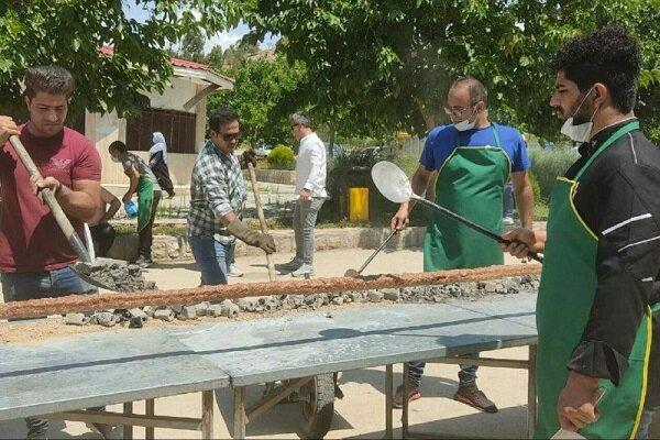 پخت کباب ۱۱۰ متری برای نیازمندان بجنورد در روز عید غدیر