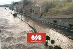 ویدئویی از وقوع سیلاب از روستای سراسب
