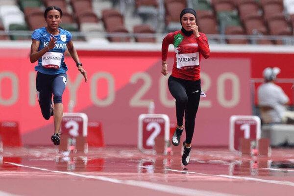 فرزانه فصیحی به نیمه نهایی دو ۱۰۰ متر المپیک نرسید