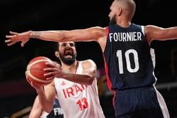 دیدار تیم ملی بسکتبال ایران و فرانسه