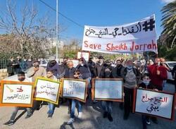 أهالي حي الشيخ جراح يعتصمون رفضاً لقرار الاحتلال بتهجيرهم