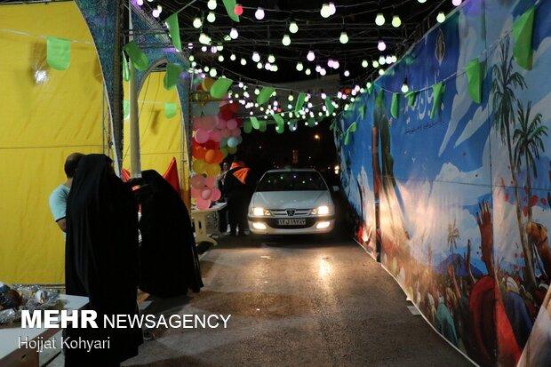 برپایی ایستگاه صلواتی خودرویی در شیراز