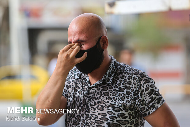 گردوغبار هوای تهران را ناسالم کرد/ کاهش دید افقی در تهران