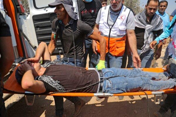 یورش نظامیان صهیونیستی به تظاهرکنندگان فلسطینی/۲۷۰ تن زخمی شدند