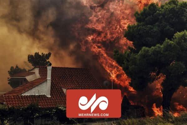 ادامه آتش سوزی در جنگل های یونان