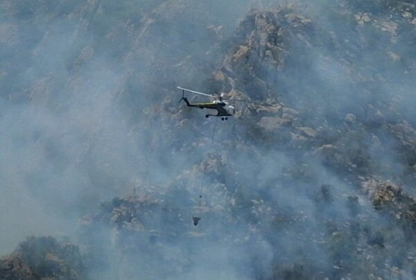 IRGC helping Turkey to put out fire by 1 plane, 2 helicopters