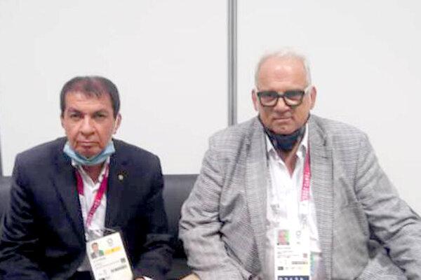 دیدار یک ایرانی با رئیس اتحادیه جهانی کشتی