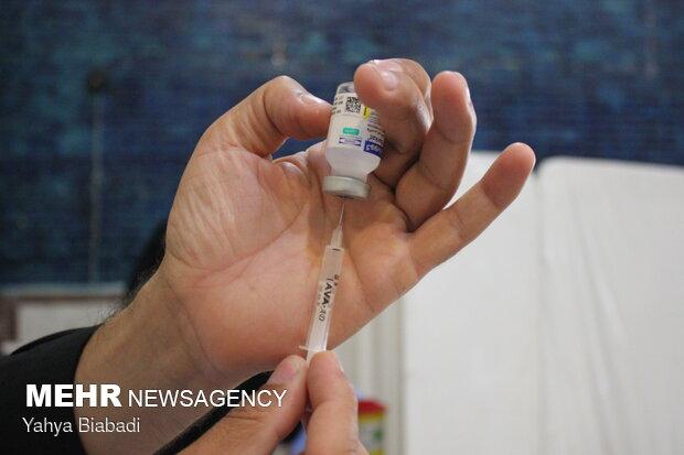 استقبال معلمان کرمانشاهی از واکسن ایرانی برکت