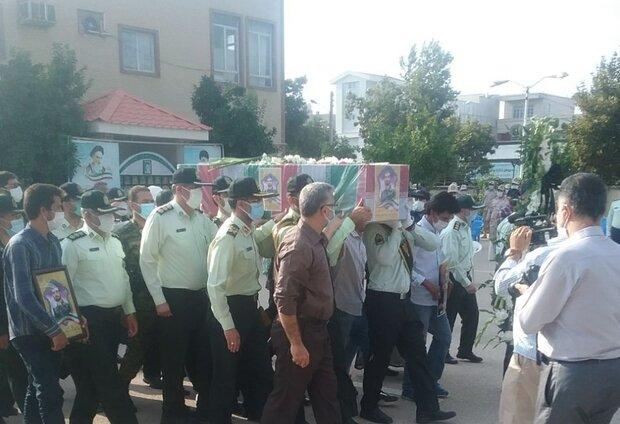 پیکر سرباز شهید مدافع امنیت در گلستان تشییع شد