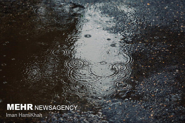 بارش باران در چله تابستان - همدان