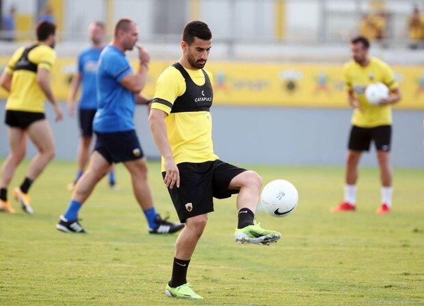 نخستین تمرین حاج صفی در تیم آ. اک یونان