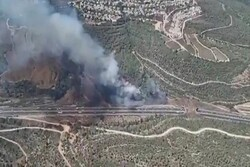 Widespread fire rages in western occupied territories