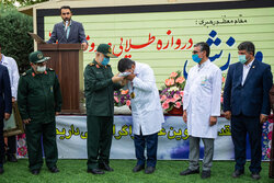 سپاہ کے کمانڈر کی موجودگی میں اولمپک چیمپئن جواد فروغی کے اعزاز میں تقریب منعقد