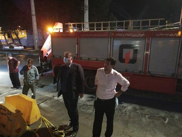 عملیات شبانه برای تعریض معابر پرترافیک شهر آمل