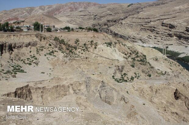 رانش زمین در روستای«تلخاب» ایلام