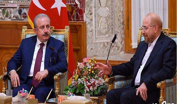 Ghalibaf blames US sanction for decrease in Iran-Turkey ties