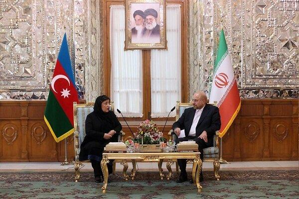 İran Meclis Başkanı Galibaf, Azeri mevkidaşı ile görüştü