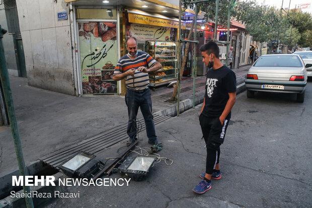 Tehran people preparing for Muharram arrival