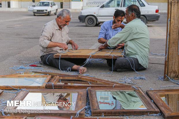 Decorating 'Nakhl' for Muharram in Yazd