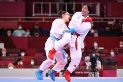 لاعبة كارتية ايرانية تتألق في بداية مشوارها بأولمبياد طوكيو