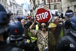 اعتراضات فرانسویها علیه سیاستهای کرونایی «ماکرون»