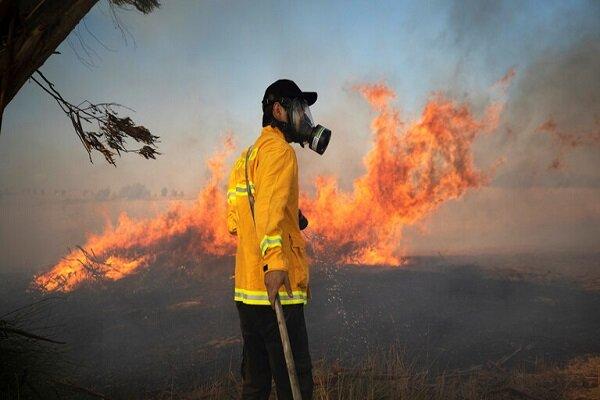 آتش سوزی در شهرک های صهیونیست نشین مجاور غزه