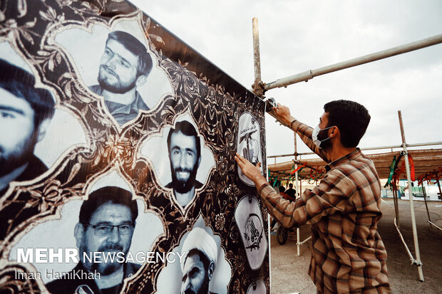 People preparing themselves to observe Muharram in Hamedan پای محرم