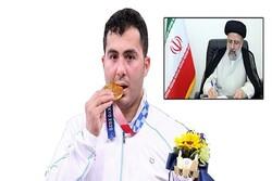 Raeisi felicitates Ganjzadeh's gold medal in Olympics