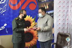 تجلیل از خبرنگاران خبرگزاری مهر استان فارس توسط مجموعه بسیج رسانه