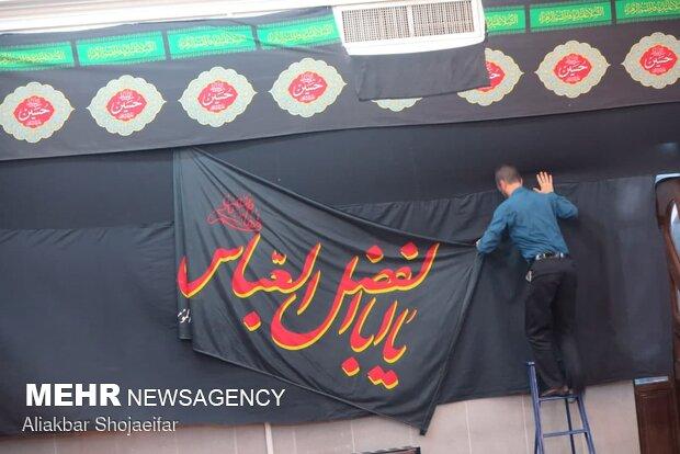 استان تهران سیاهپوش عزای ارباب بی کفن/خیمه هیات ها برپا شد