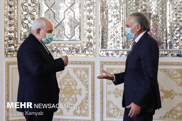 دیدار نماینده دبیرکل سازمان ملل متحد در امور افغانستان با ظریف