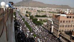 راهپیمایی گسترده ضد آمریکایی یمنی ها