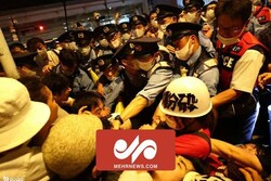 VIDEO: Anti-Olympics protesters in Japan clash with police