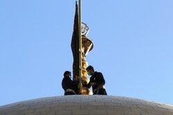 'Black Mourning Flag' hoisted in Imam Reza Shrine in Mashhad