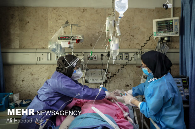 Iranian medical staff struggle with 5th wave of Covid-19
