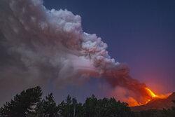 فعال شدن دوباره آتشفشان اتنا ایتالیا