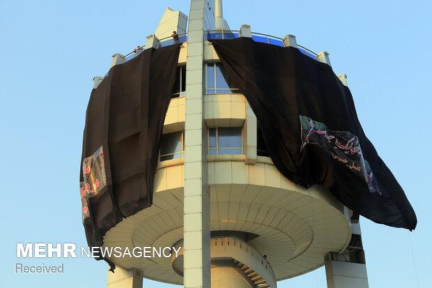 مراسم سیاه پوشی برج گرگان