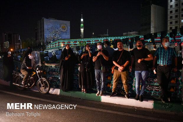 رونمایی از دیوار نگاره محرمی میدان ولیعصر (عج)