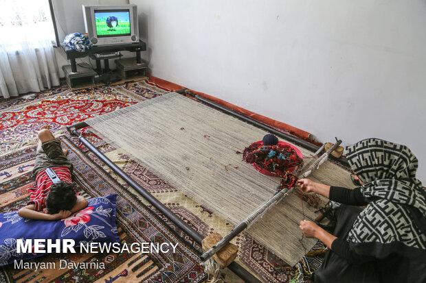 حکایت پررنج Kilim weaving in NE Iran بافان بجنوردی